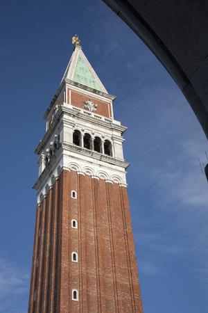 st  mark's: St Marks Bell Tower - Campanile; Venice, Italy Stock Photo