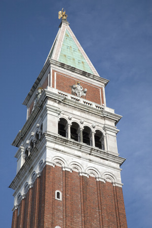 the campanile: St Marks Bell Tower - Campanile; Venice, Italy Stock Photo