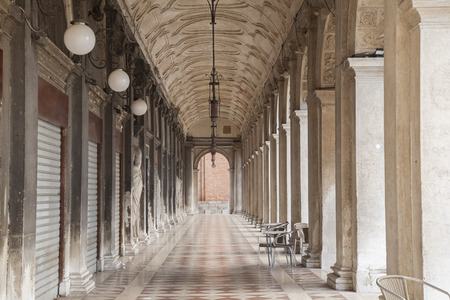 st marks square: Arch in St Marks Square; Venice; Italy Editorial