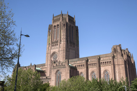 anglican: Anglican Cathedral, Liverpool, England, UK Stock Photo