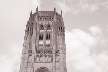anglican: Liverpool Anglican Cathedral Church Stock Photo