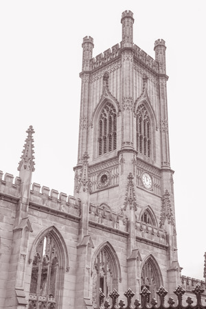 church ruins: St Lukes Church Ruins, Liverpool, England in Black and White Sepia Tone