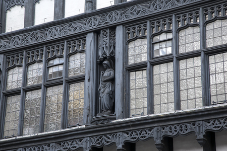 chester: Traditional Facade in Chester, England, UK