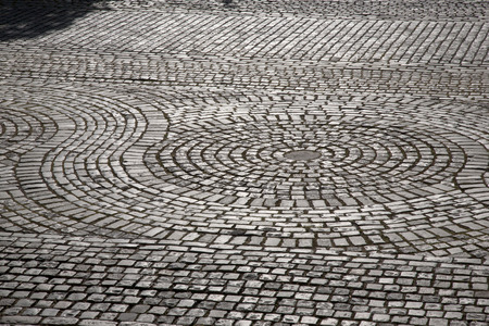 liverpool: Cobbled Stones in Street, Liverpool; England; UK Stock Photo