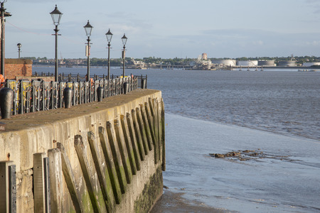 mersey: River Mersey, Pier Head, Liverpool, England, UK Stock Photo