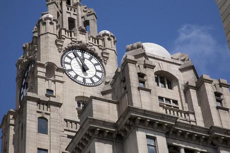 liverpool: Royal Liver Building; Pier Head; Liverpool; England; UK