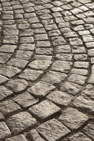 cobbled: Cobbled Stones in Evening Sunlight, Vienna, Austria Stock Photo
