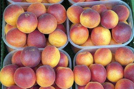 stall: Nectarine Background on Market Stall