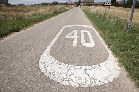 forty: Forty Speed Sign in a Rural Setting