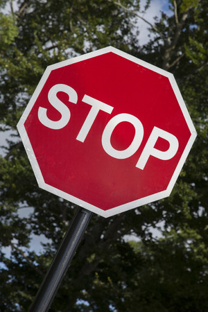 sign: Red and White Stop Traffic Sign