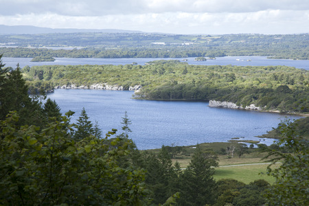 lough: View from Top of Torc Waterfall, Killarney National Park, County Kerry, Ireland