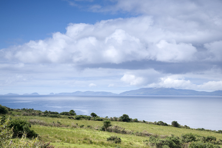 county kerry: Ring of Kerry Coast with Dingle Peninsula, County Kerry; Ireland
