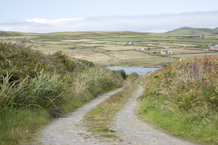 county kerry: Ring of Kerry Coast with Valentia Island behind; County Kerry; Ireland