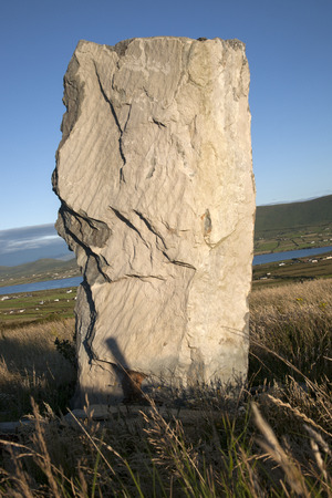 standing stone: Standing Stone and View; Valentia Island; Ireland