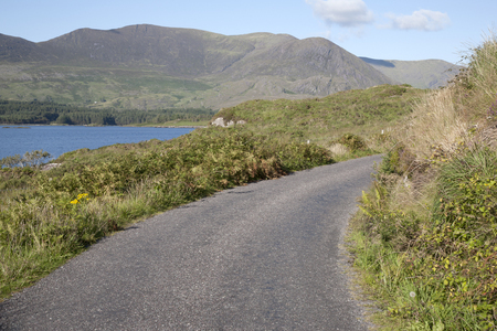 county kerry: Lough Currane, Waterville; County Kerry; Ireland Stock Photo