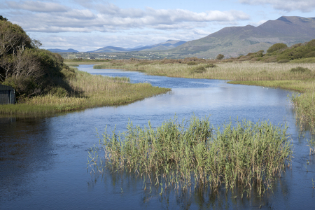river county: River Currane; Waterville; County Kerry; Ireland Stock Photo