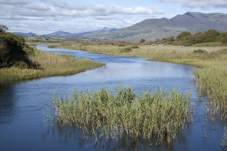 irish countryside: River Currane; Waterville; County Kerry; Ireland Stock Photo