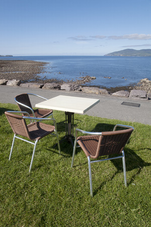 county kerry: Cafe Table and Chair, Waterville, County Kerry; Ireland