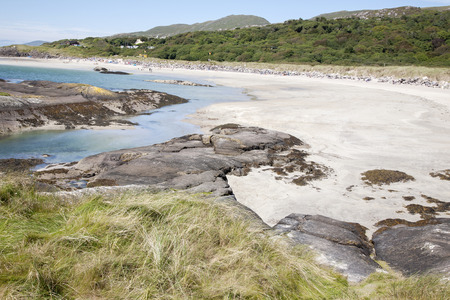 county kerry: Derrymore Bay Beach; Waterville; County Kerry; Ireland Stock Photo