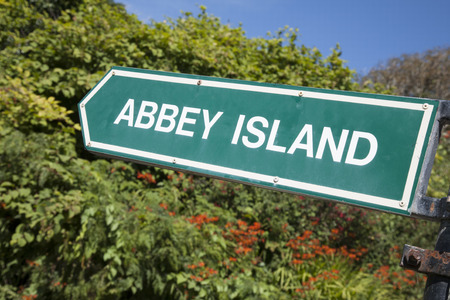 county kerry: Abbey Island Sign, Derrymore Bay Beach; County Kerry; Ireland