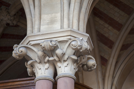 winchester: Detail on Guildhall in Winchester, Hampshire, England