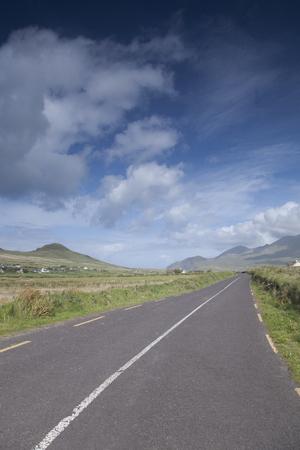 open road: Open Road on Dingle Peninsula, Ireland Stock Photo
