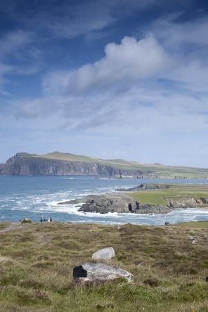 dingle: Coast near Ballyferriter Village, Dingle Peninsula, Ireland Stock Photo