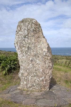dingle: Standing Stone near Ballyferriter Village; Dingle Peninsula; Ireland