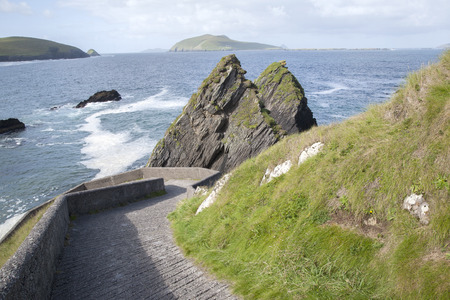 dunquin: Rock at Dunquin Harbour, Dingle Peninsula; Ireland