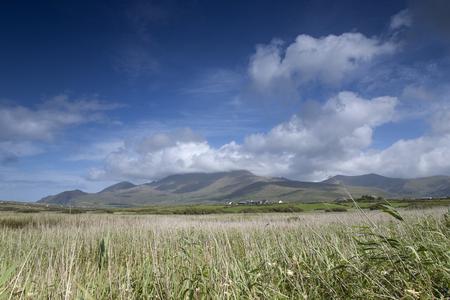 dingle: Mountains and Cloudscape in Dingle Peninsula, Ireland Stock Photo