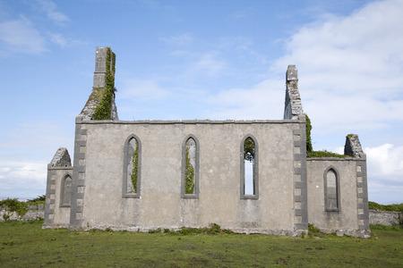 aran: Disused Church, Kilronan Village, Inishmore, Aran Island, Ireland