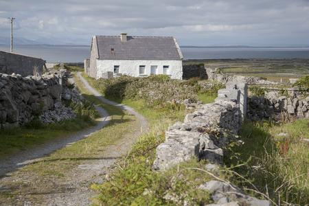 aran islands: Traditional Cottage, Inishmore; Aran Islands; Ireland
