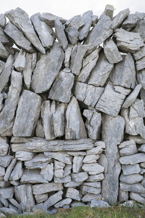 aran: Stone Walls on Inishmore; Aran Islands; Ireland
