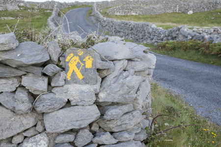 ramble: Walking Sign, Inishmore; Aran Islands; Ireland