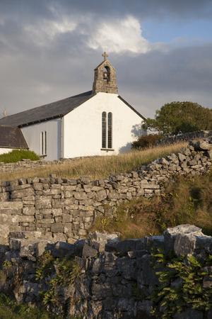 aran: Church at Corruch, Arainn, Inishmore; Aran Islands; Ireland