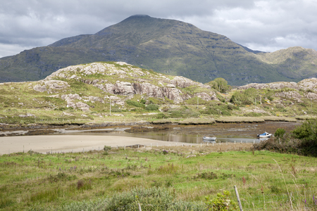 connemara: Lettergesh Beach; Killary Fjord; Connemara National Park; County Galway, Ireland Stock Photo