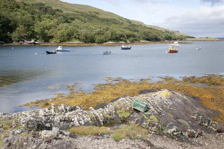 connemara: Rosroe Harbor, Killary Fjord, Connemara National Park, County Galway, Ireland Stock Photo