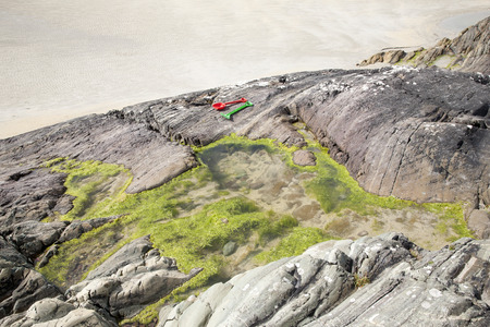 connemara: Rock Pool on Glassillaun Beach, Killary Fjord, Connemara National Park, County Galway, Ireland