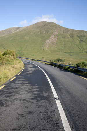 connemara: Open Road in Connemara National Park; Galway; Ireland Stock Photo