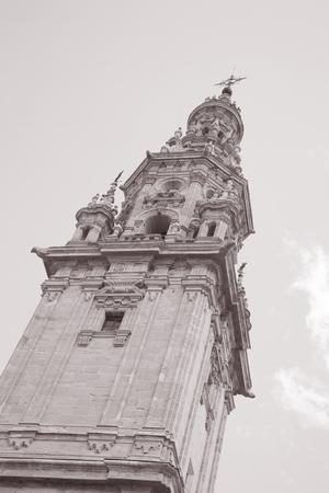domingo: Bell Tower - Cathedral, Santo Domingo de la Calzada, Burgos, Spain. Stock Photo