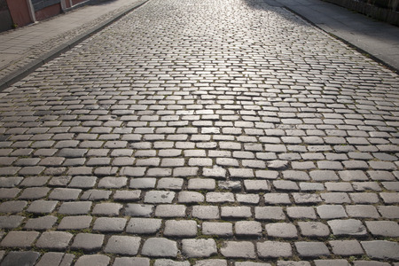 cologne: Cobble Stone Street Background, Cologne, Germany