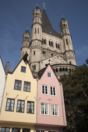 saint martin: Saint Martin Church, Cologne, Germany Stock Photo