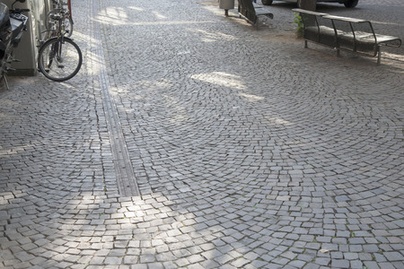 Cobble Stone Street Background, Cologne, Germany
