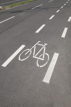 lane: Bike Lane in Cologne; Germany Stock Photo