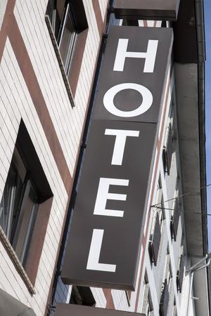 diagonal: Hotel Sign on Diagonal Slant