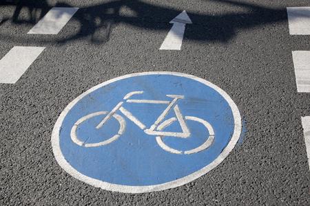 lane: Bike Lane Symbol, Bonn, Germany