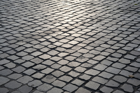 Cobble Stones, Leuven, Belgium Stock Photo