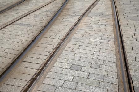 rotterdam: Tram Track in Rotterdam, Holland, Netherlands