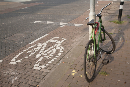 rotterdam: Bike and Cycle Lane, Rotterdam, Holland, Netherlands