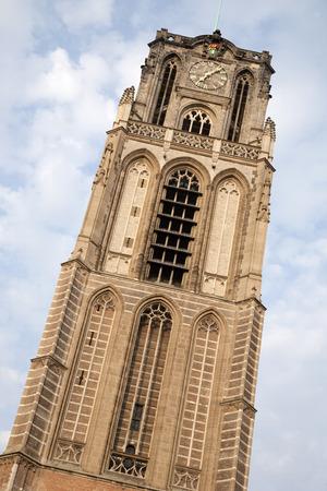 rotterdam: Cathedral Church Tower; Rotterdam; Holland Stock Photo